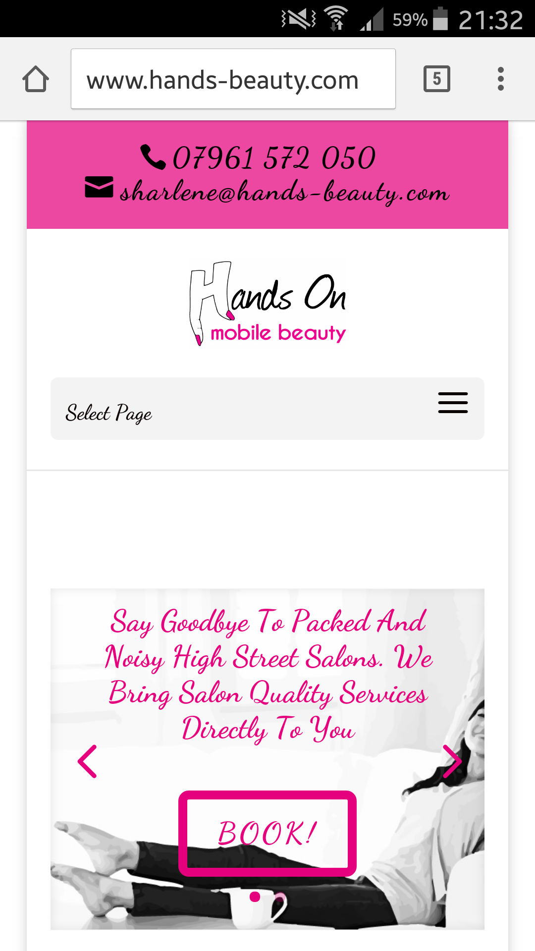 Website Design Mobile Beauty