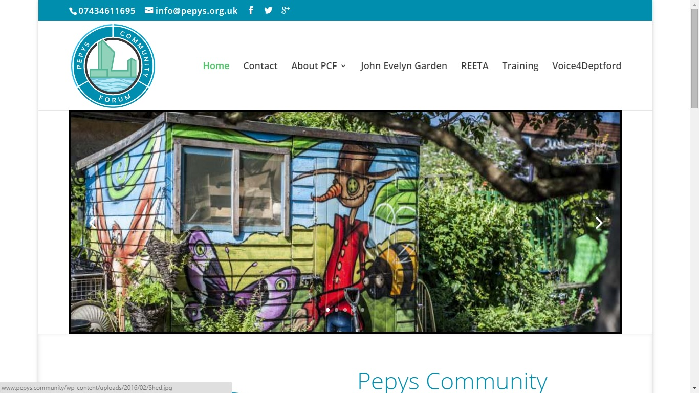 Website Design: Pepys Community Forum